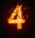 Number-4-on-fire