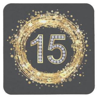 diamond_number_15_glitter_bling_confetti_gold_square_paper_coaster-rb5ec82ce8d8b4e1a91563d0744e7846b_z6zru_324